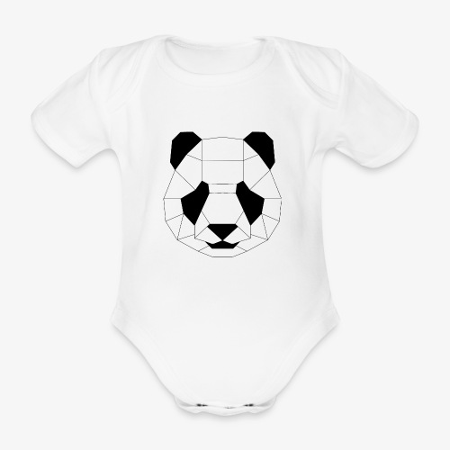 Panda schwarz - Baby Bio-Kurzarm-Body