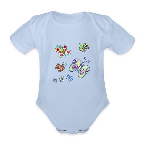 Allegria di farfalle - Body ecologico per neonato a manica corta
