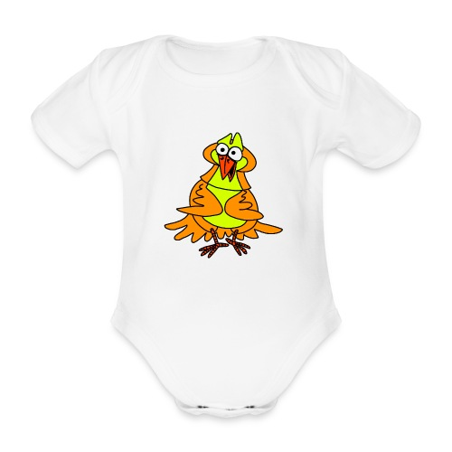Vogel Nr 3 von dodocomics - Baby Bio-Kurzarm-Body