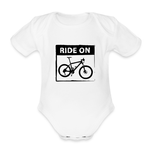 Ride On MTB 1 Color - Baby Bio-Kurzarm-Body