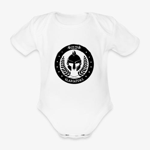 Gym Pur Gladiators Logo - Organic Short-sleeved Baby Bodysuit