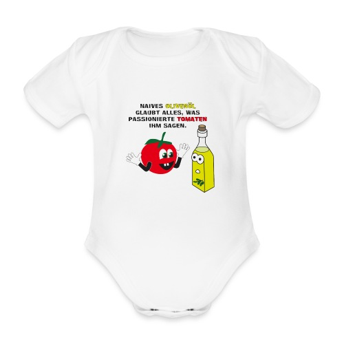 Tomate und Olivenöl - Baby Bio-Kurzarm-Body