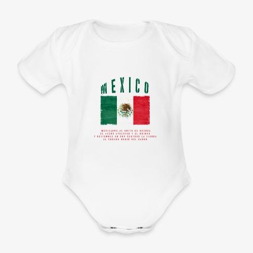 Mexican Flag Bandera Mexico - Baby Bio-Kurzarm-Body
