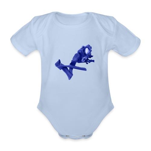 gas mask - Organic Short-sleeved Baby Bodysuit