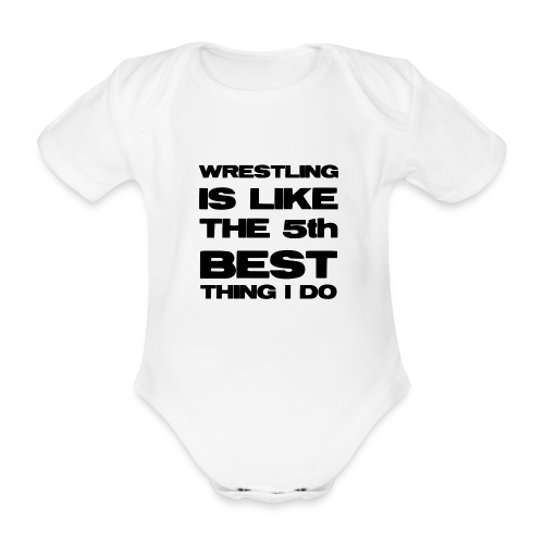 5thbest1 - Organic Short-sleeved Baby Bodysuit