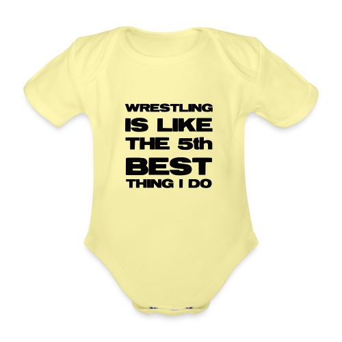 5thbest1 - Organic Short-sleeved Baby Bodysuit