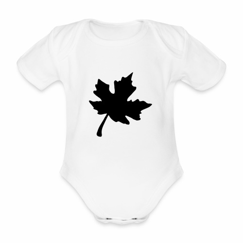Ahorn Blatt - Baby Bio-Kurzarm-Body