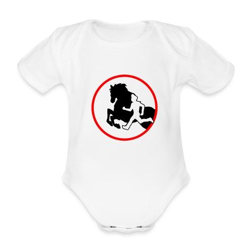 Horse Agility Logo - Baby Bio-Kurzarm-Body