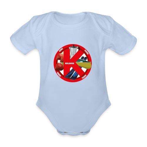 logoforeskil - Organic Short-sleeved Baby Bodysuit