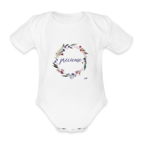 Précieuse - Body Bébé bio manches courtes