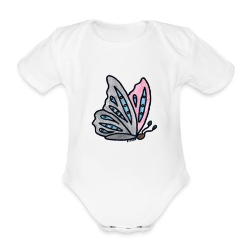 Fjäril - Ekologisk kortärmad babybody