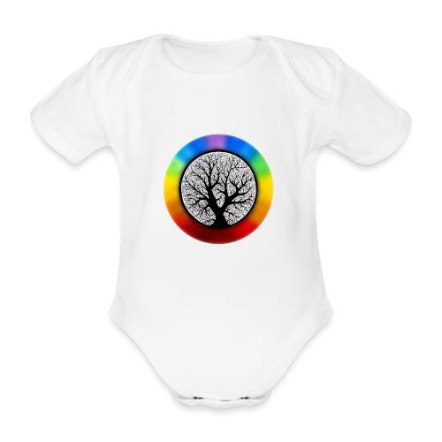 tree of life png - Baby bio-rompertje met korte mouwen