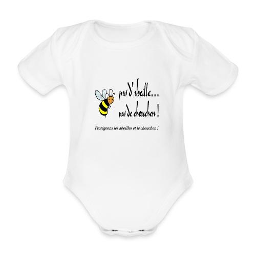 Pas d'abeille, pas de chouchen - Body Bébé bio manches courtes
