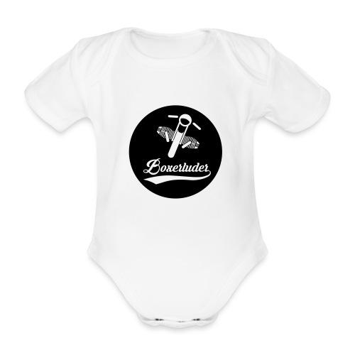 Motorrad Fahrer Shirt Boxerluder - Baby Bio-Kurzarm-Body