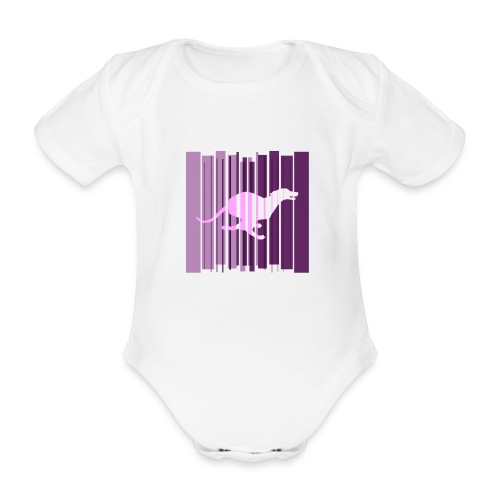 Sighthound In Purple Women's T - Organic Short-sleeved Baby Bodysuit
