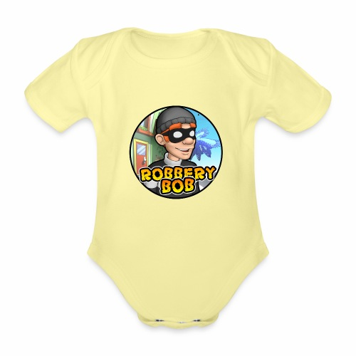 Robbery Bob Button - Organic Short-sleeved Baby Bodysuit
