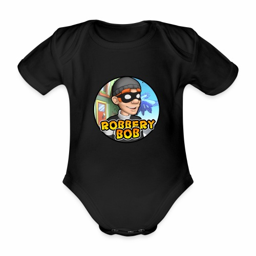 Robbery Bob Button - Organic Short-sleeved Baby Bodysuit