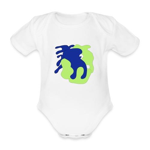 Macchie_di_colore-ai - Body ecologico per neonato a manica corta