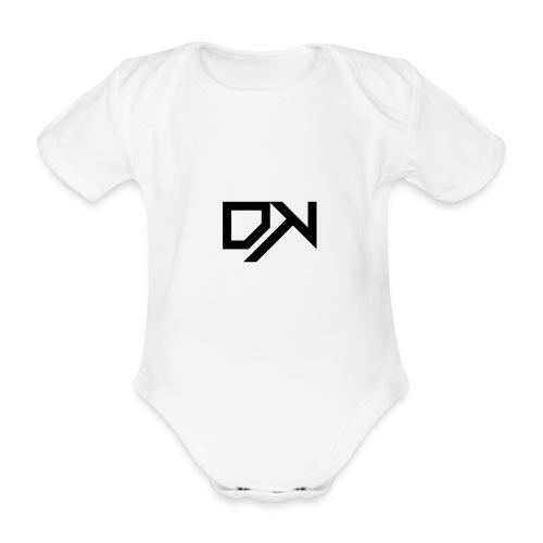 DewKee Logo T-Shirt Black - Organic Short-sleeved Baby Bodysuit