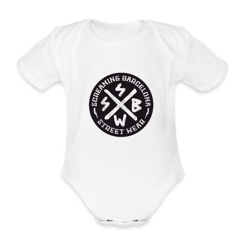 BASIC LOGO SWEATSHIRT BLACK - Body orgánico de manga corta para bebé