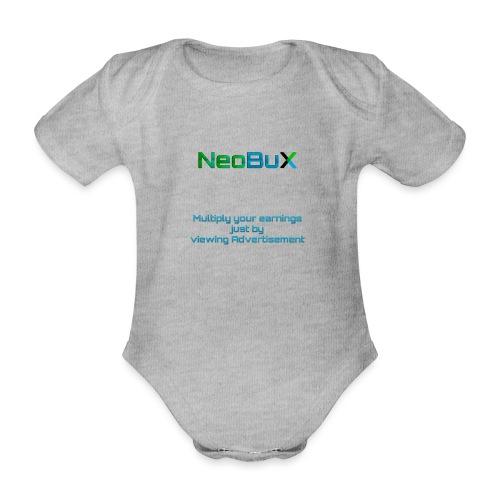 NeoBuX Blue - Organic Short-sleeved Baby Bodysuit