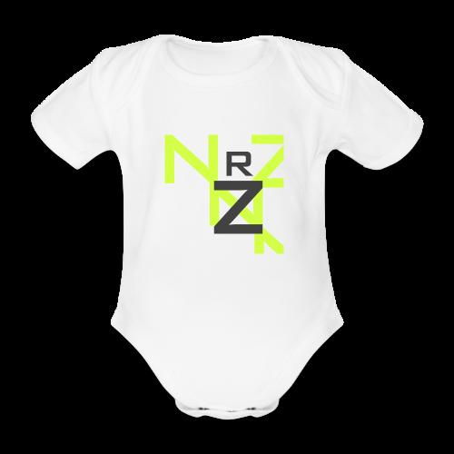 Nörthstat Group™ Clear Transparent Main Logo - Organic Short-sleeved Baby Bodysuit