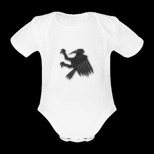 Nörthstat Group ™ Black Alaeagle - Organic Short-sleeved Baby Bodysuit