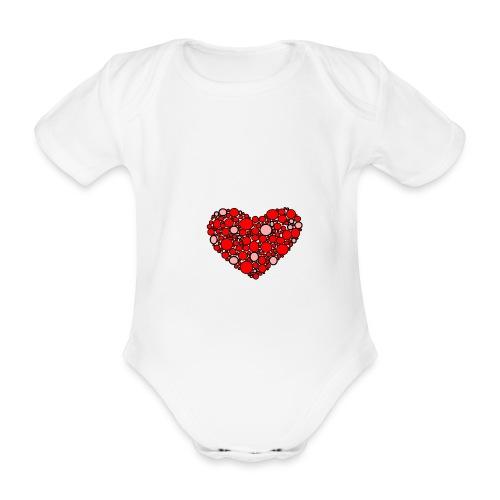 Hjertebarn - Kortærmet babybody, økologisk bomuld