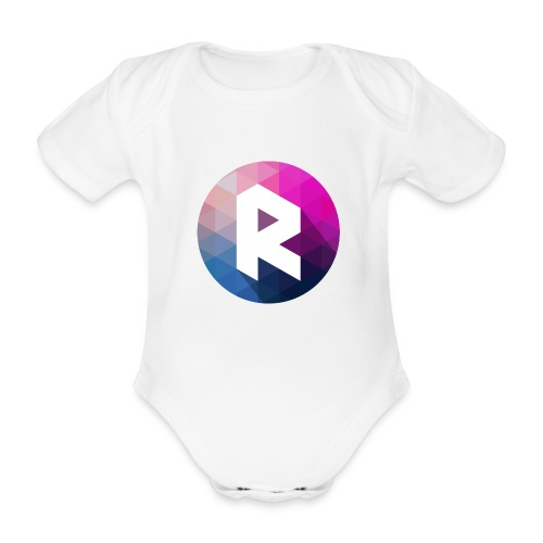 radiant logo - Organic Short-sleeved Baby Bodysuit