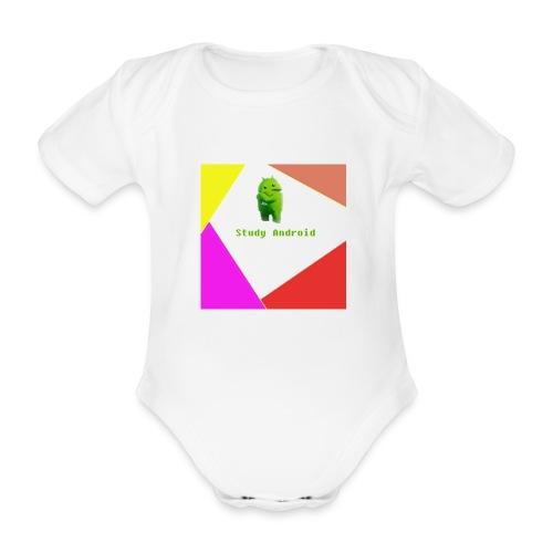 Study Android - Body orgánico de maga corta para bebé