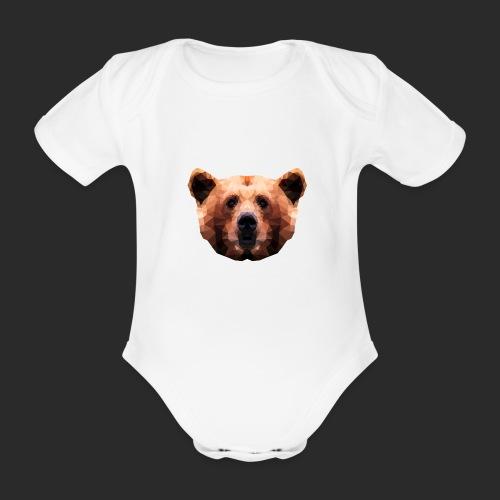 Low-Poly Bear - Baby Bio-Kurzarm-Body