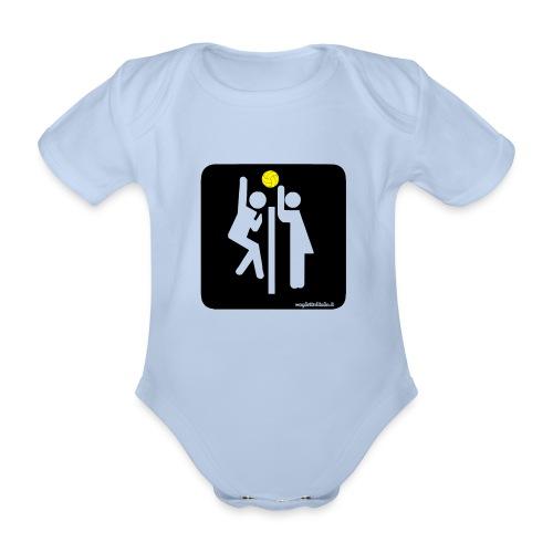 Toilet Volley - Body ecologico per neonato a manica corta