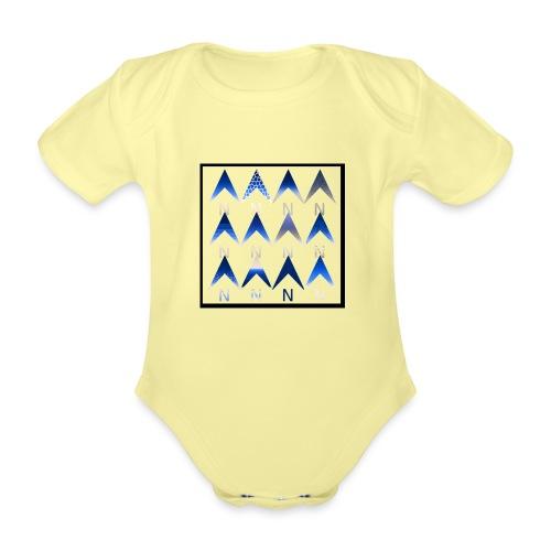 Noordpijlen - Baby bio-rompertje met korte mouwen