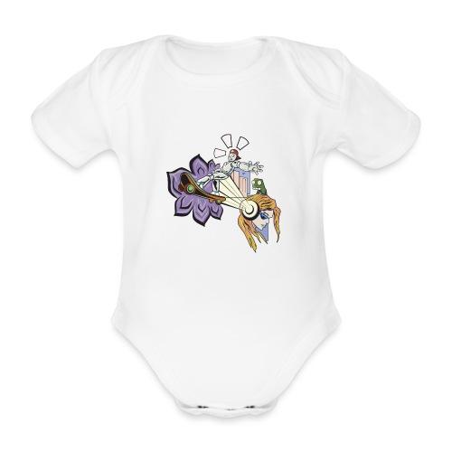Spring Doodle - Baby bio-rompertje met korte mouwen