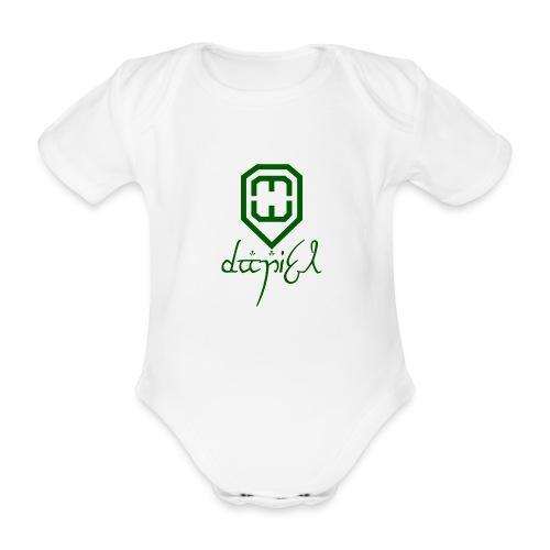 Cup logo Dan - Organic Short-sleeved Baby Bodysuit