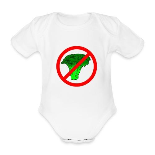 no broccoli allowed - Organic Short-sleeved Baby Bodysuit