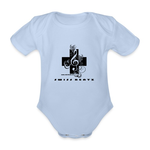 Swiss Beatz Logo with L - Baby Bio-Kurzarm-Body