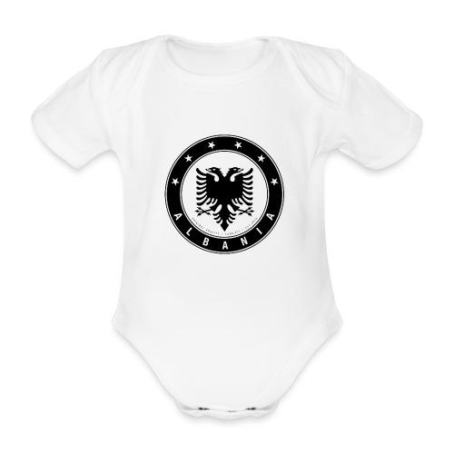 Patrioti Albania Black - Baby Bio-Kurzarm-Body