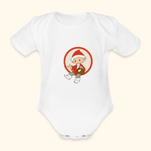 Sandmännchen streut Sand - Baby Bio-Kurzarm-Body