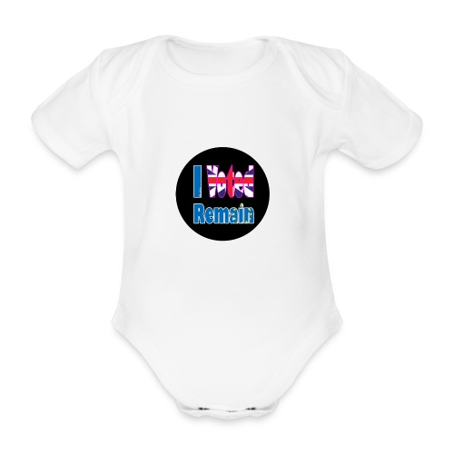 I Voted Remain badge EU Brexit referendum - Organic Short-sleeved Baby Bodysuit
