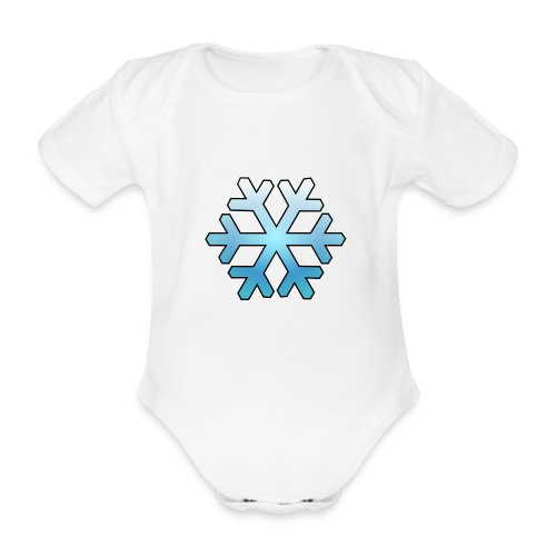 Schneeflocke - Baby Bio-Kurzarm-Body