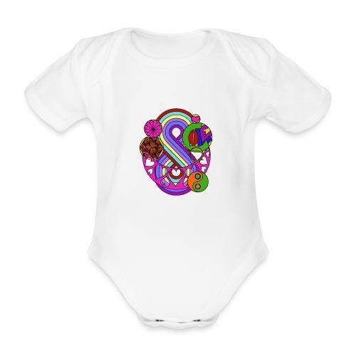 Colour Love Mandala - Organic Short-sleeved Baby Bodysuit