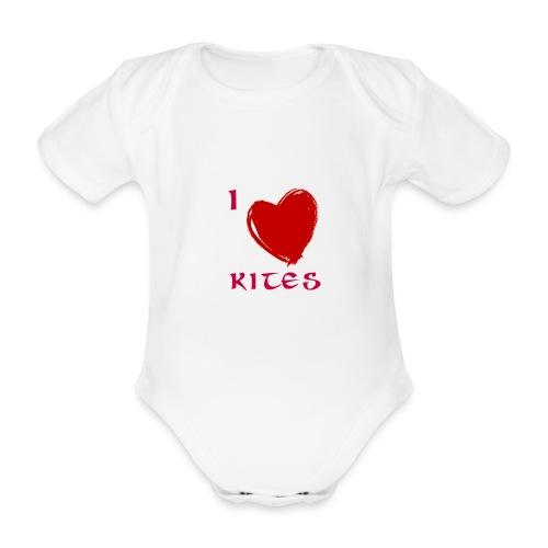 love kites - Organic Short-sleeved Baby Bodysuit