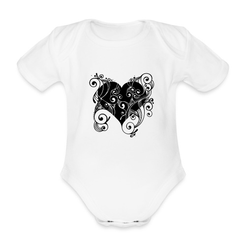 Isle of Heart Petal - Organic Short-sleeved Baby Bodysuit