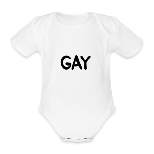 GAY - Organic Short-sleeved Baby Bodysuit