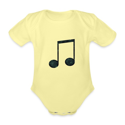Low Poly Geometric Music Note - Organic Short-sleeved Baby Bodysuit