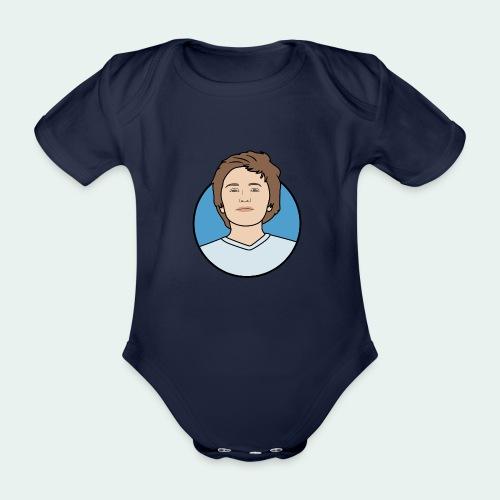 Logo - Baby bio-rompertje met korte mouwen
