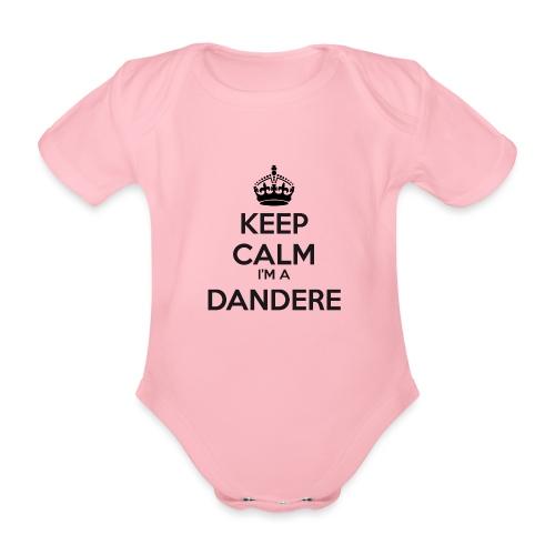 Dandere keep calm - Organic Short-sleeved Baby Bodysuit