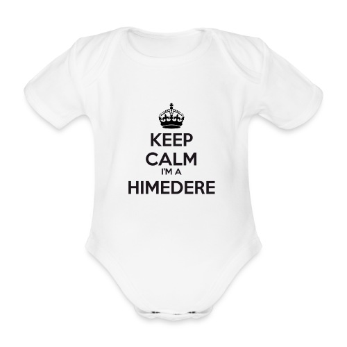 Himedere keep calm - Organic Short-sleeved Baby Bodysuit