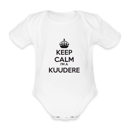 Kuudere keep calm - Organic Short-sleeved Baby Bodysuit